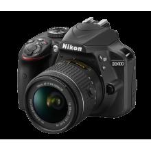 Câmera Nikon DSLR D3400 + Lente AF-P NIKKOR 18-55mm