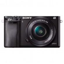 Câmera Sony ILCE-6000L a6000 com sensor APS-C + Lente 16-50mm